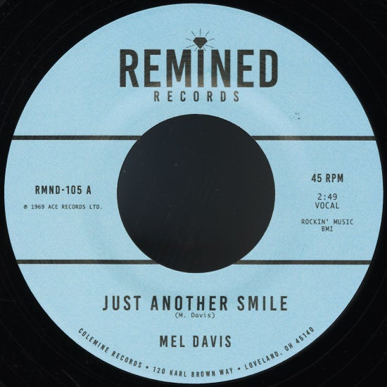 "Mel Davis - Just Another Smile b/w The Imports - I'm Not Ashamed Of Loving You (7"")"