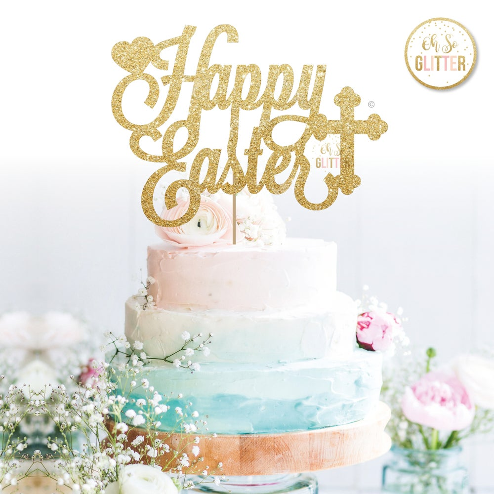Image of Happy Easter Cake Topper