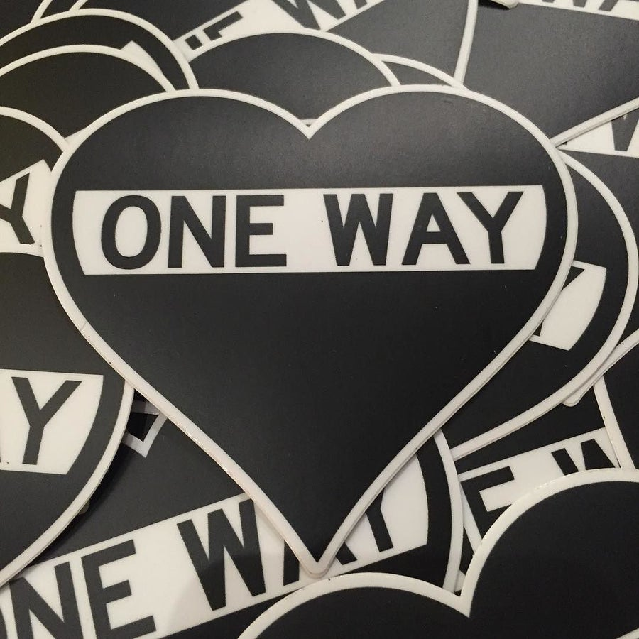 Image of Pack of 50 One Way Heart Stickers - MSRP $4 each