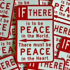 Image of Pack of 50 Peace Sign Stickers - MSRP $3 each