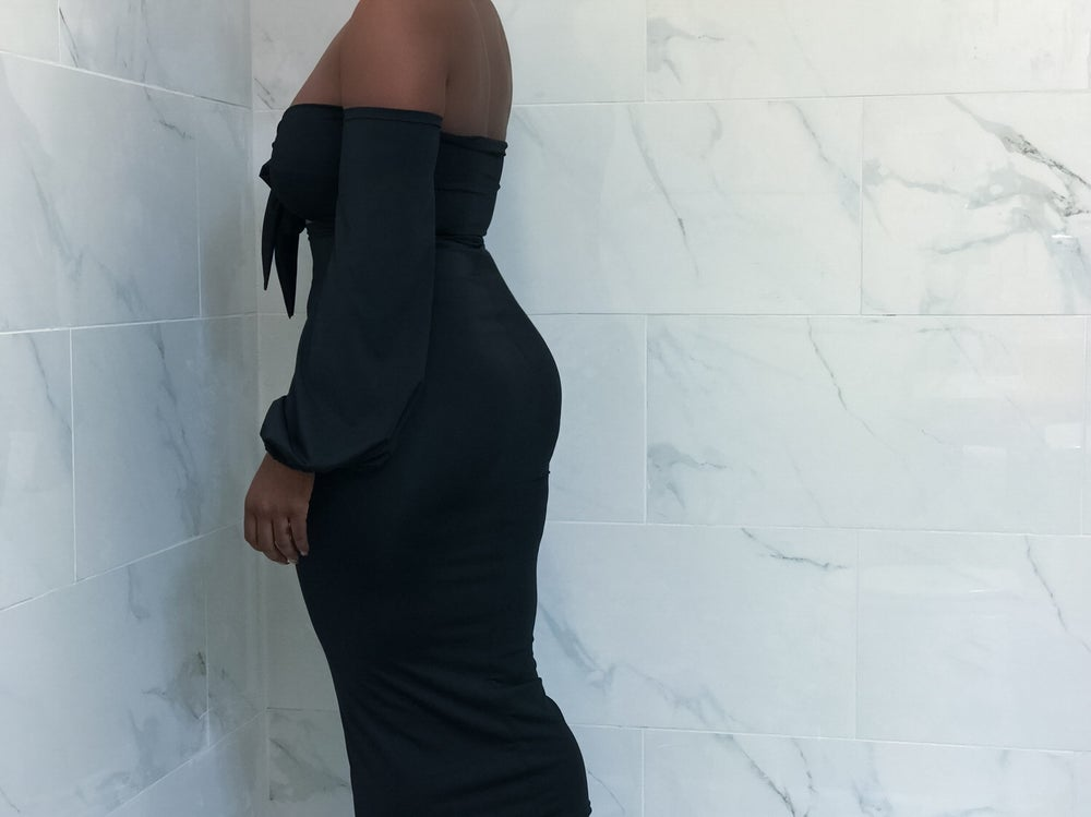 Image of So Black Dress