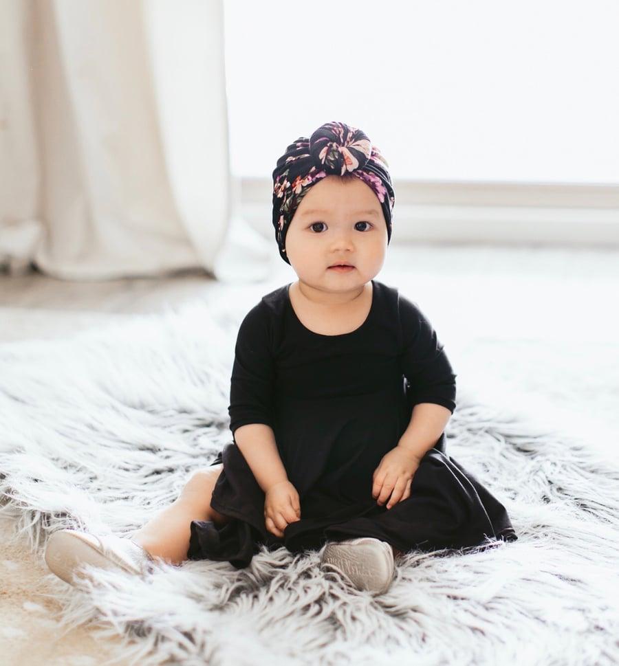 Image of Baby/Girls Basic Black Twirly