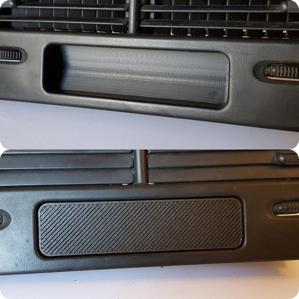 88-91 EF Honda Clock Delete Plates (two styles)