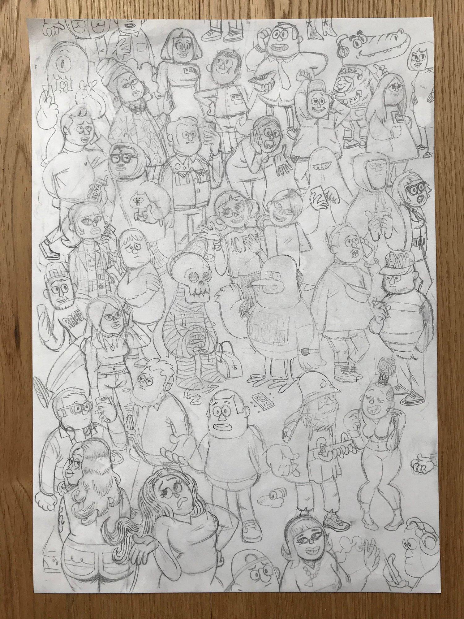 Image of Streetlife 1 Original, signed drawing