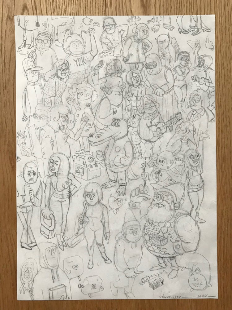 Image of Streetlife 2 Original, signed drawing