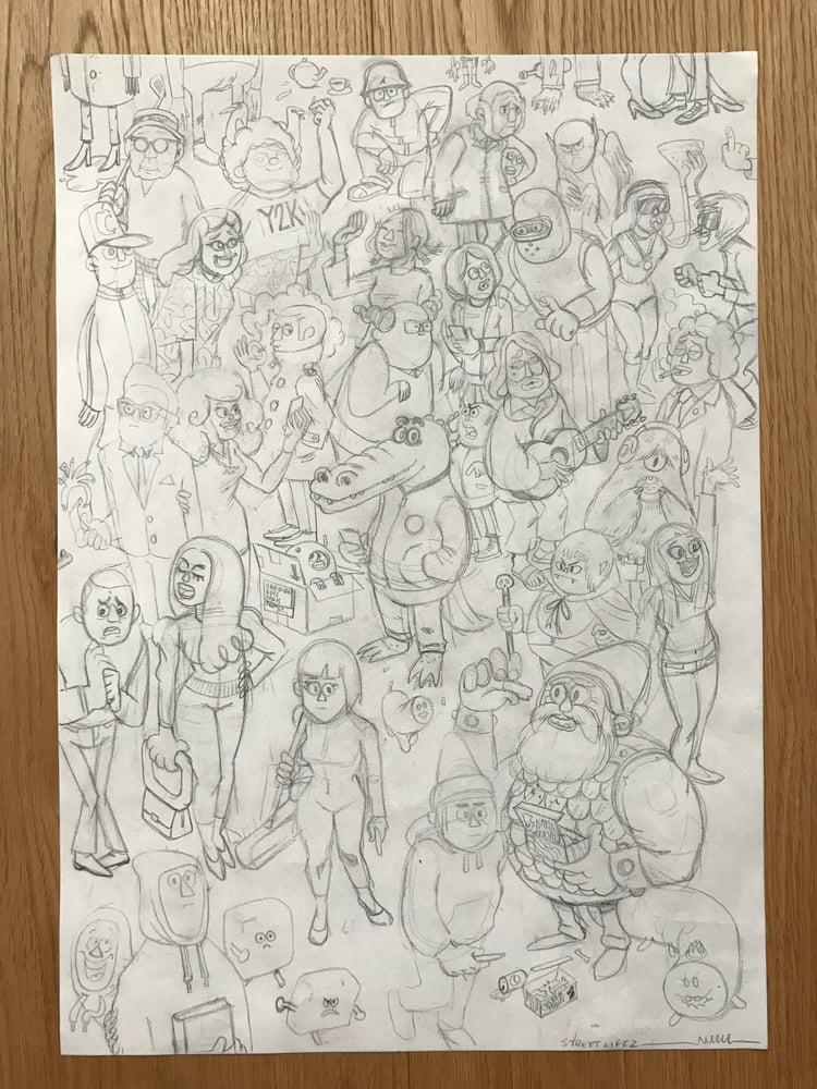 Image of Streetlife 2 Original, signed drawing