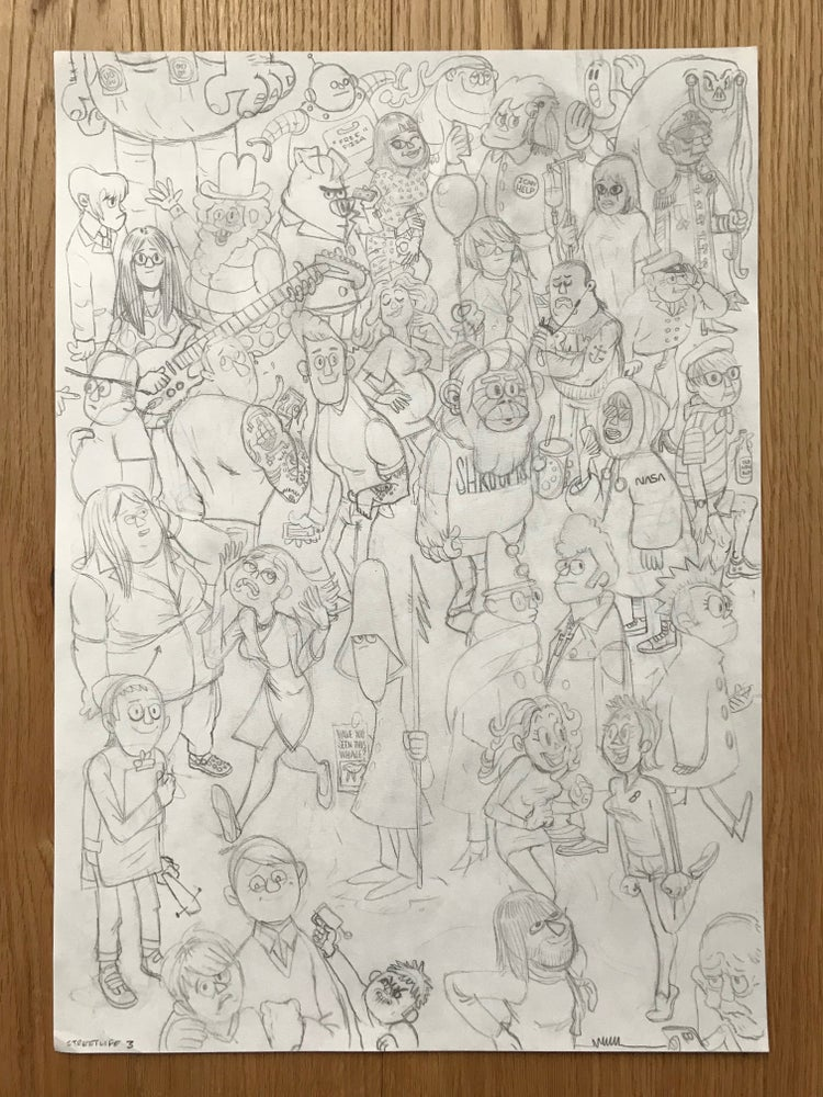 Image of Streetlife 3 Original, signed drawing.