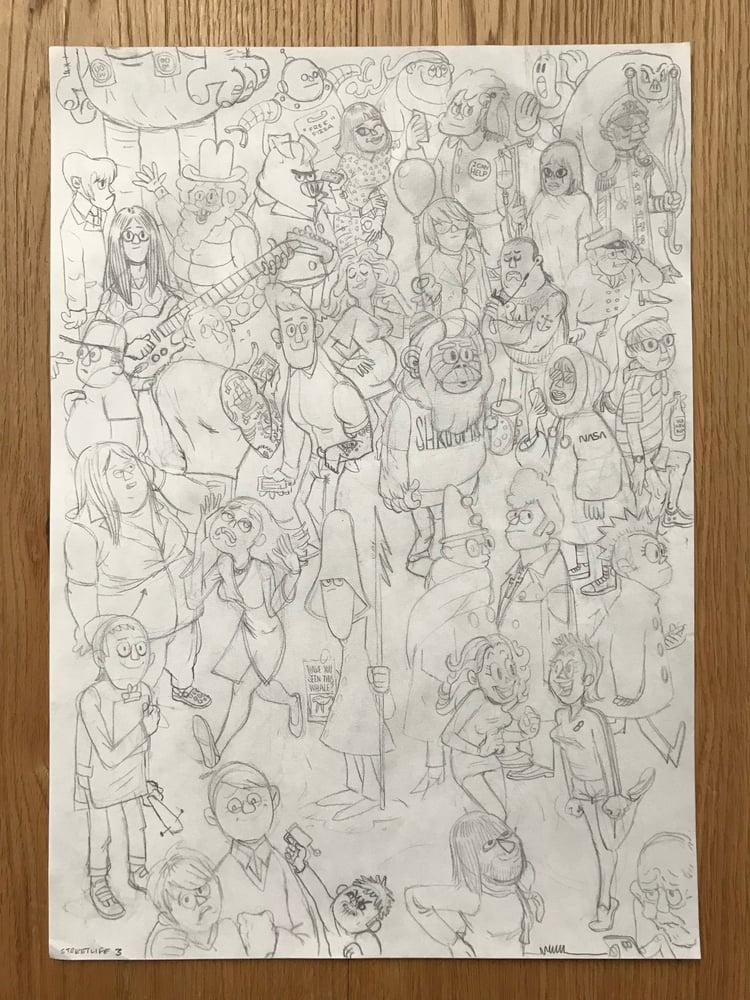 Image of Streetlife 3 Original, signed drawing.
