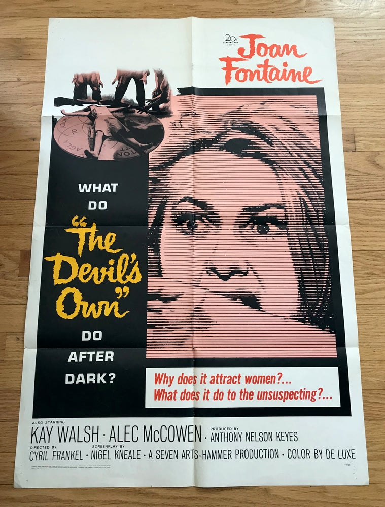 Image of 1967 THE DEVIL'S OWN aka THE WITCHES Original U.S. One Sheet Movie Poster