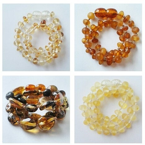 Image of Classic Baltic amber teething necklace