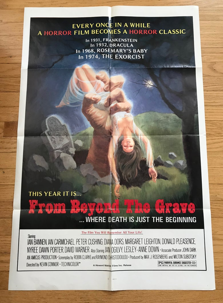Image of 1974 FROM BEYOND THE GRAVE Original U.S. One Sheet Movie Poster