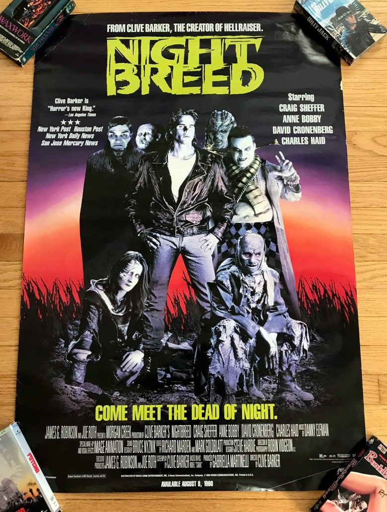 Image of 1990 NIGHTBREED Original Video Promotional Poster