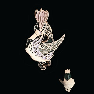 Image of Meadowlarks' Song Enamel Pin