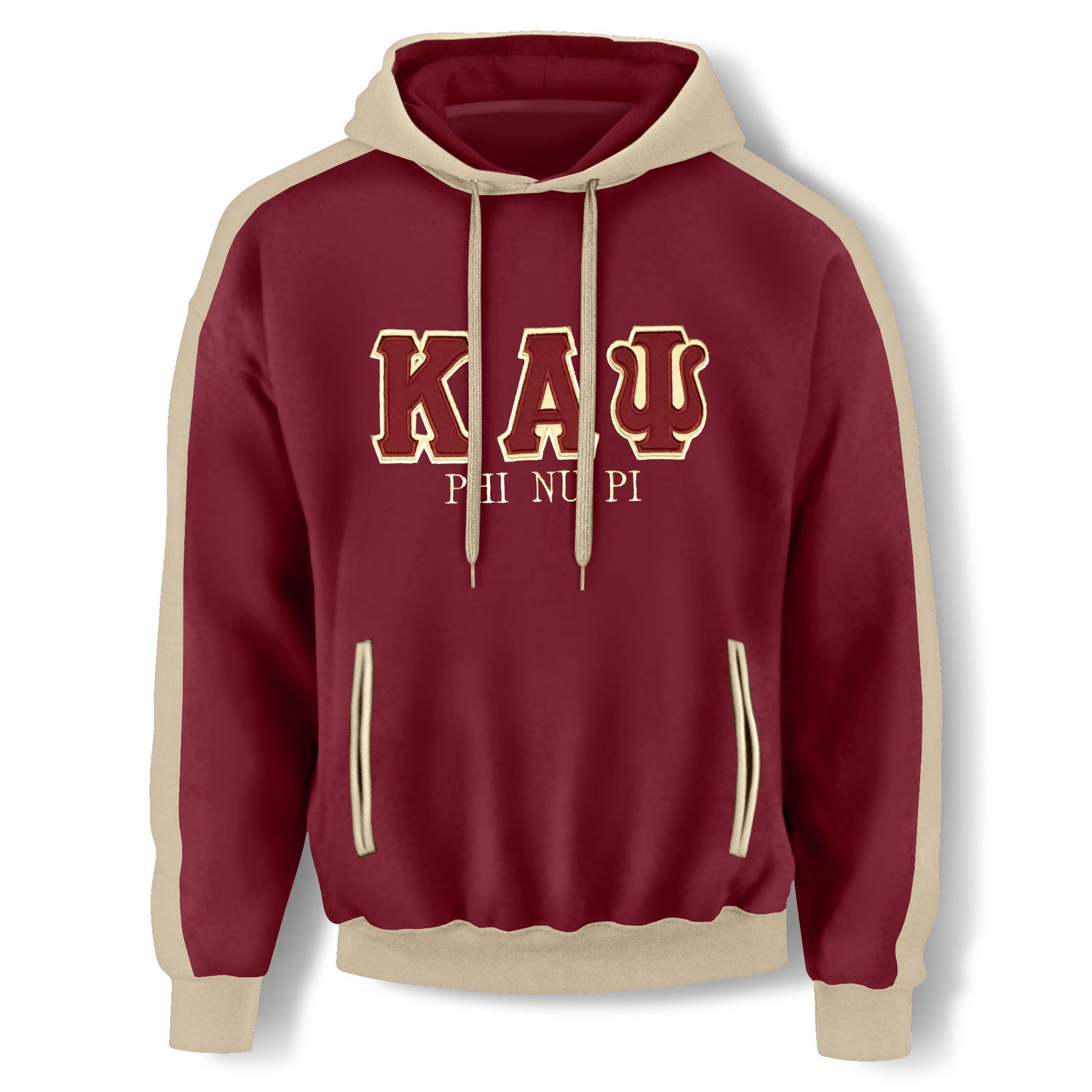 Image of Crimson Hooded Sweatshirt - KAΨ