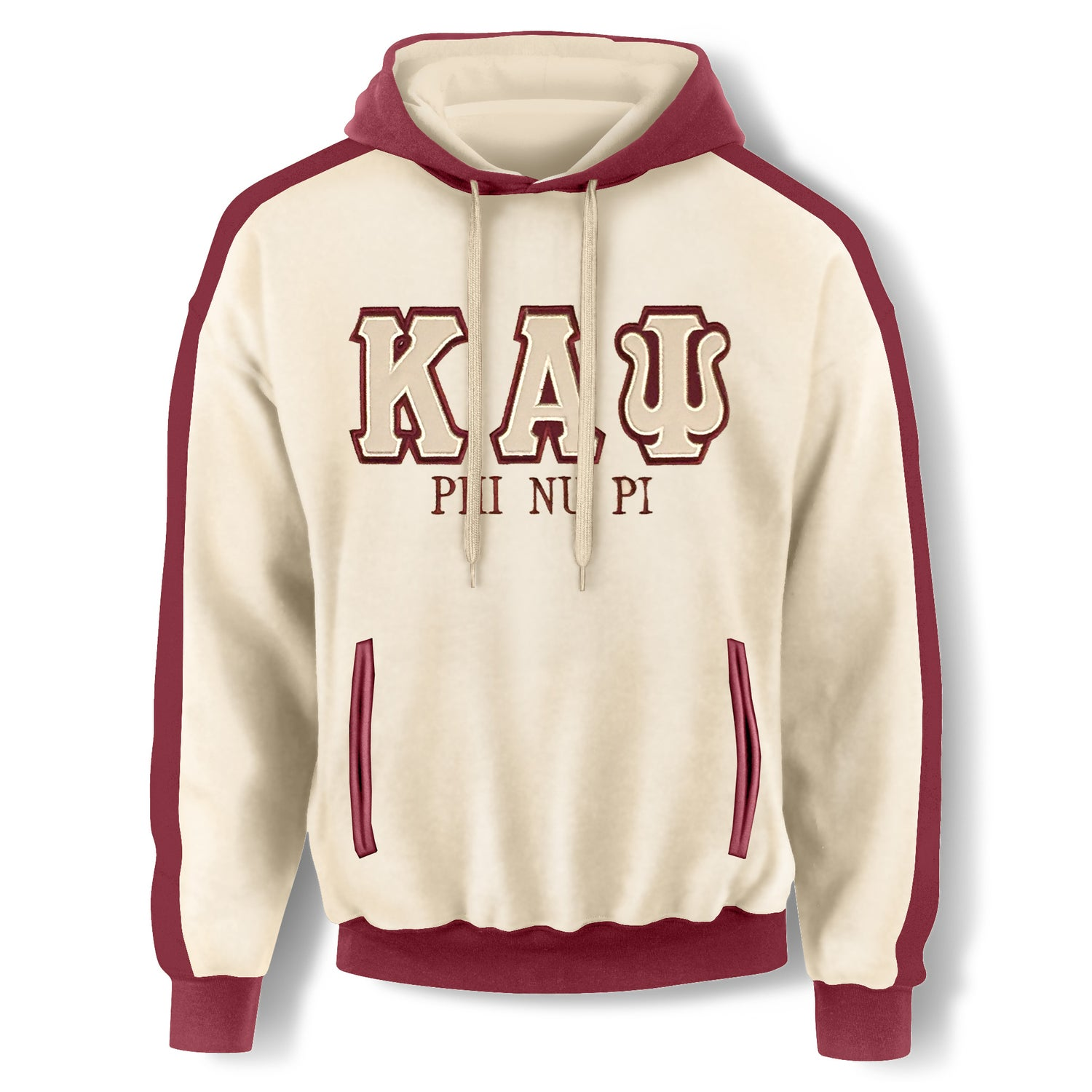 Image of Cream Hooded Sweatshirt-KAΨ