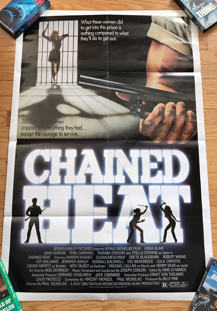 Image of 1983 CHAINED HEAT Original U.S. One Sheet Movie Poster