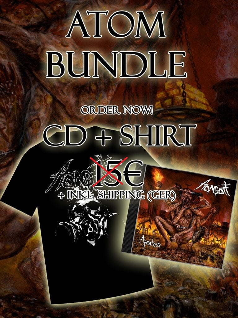 Image of Bundle - Gasmask Shirt & Apatheia CD