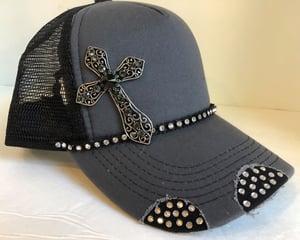 Image of Triple Crystal Trucker Crystal Cross
