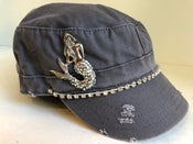 Image of Cadet Hat w/Words Crystal Silver Mermaid