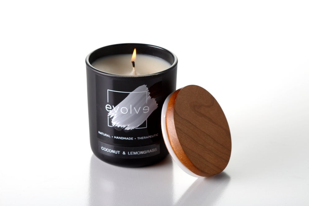Image of Black Matte Soy Candle Large 350g