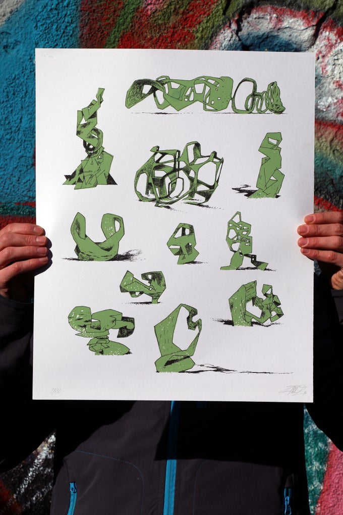 "Image of Jeroen Erosie ""Imaginary Sculptures (green)"""
