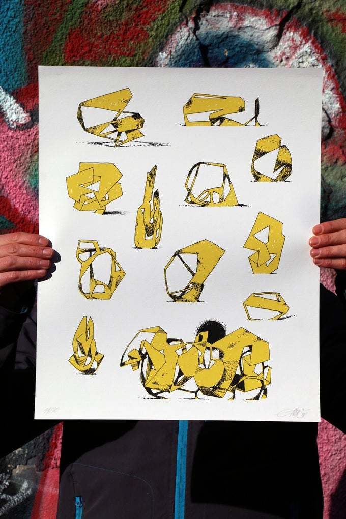 "Image of Jeroen Erosie ""Imaginary Sculptures (yellow)"""