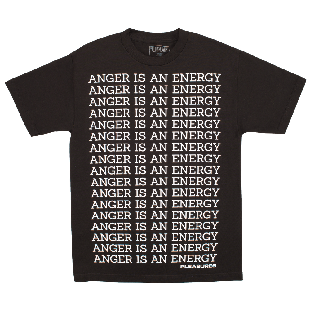 Image of PLEASURES - ANGER T-SHIRT (BLACK)