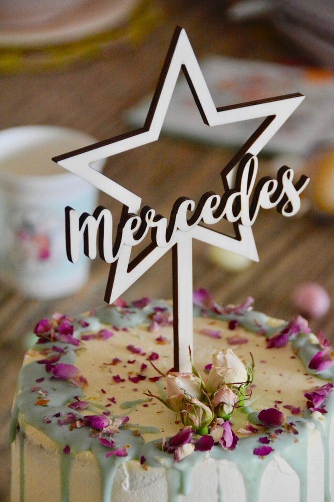 """Image of TOPPER """"estrella"""" ⭐️ personalizado"""