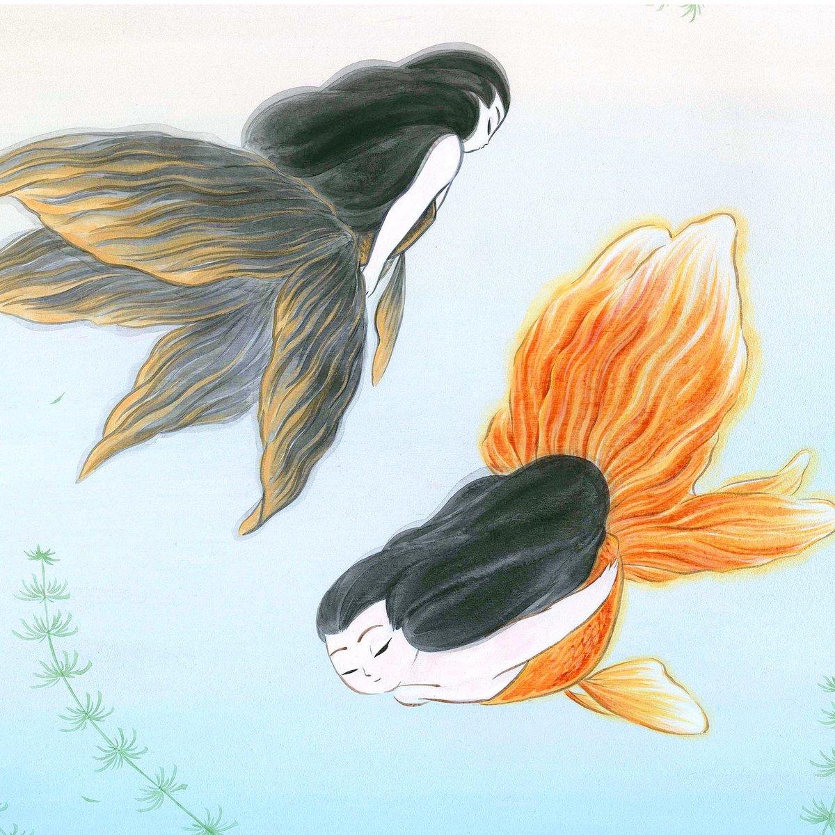 Goldfish Mermaids Original Paintings