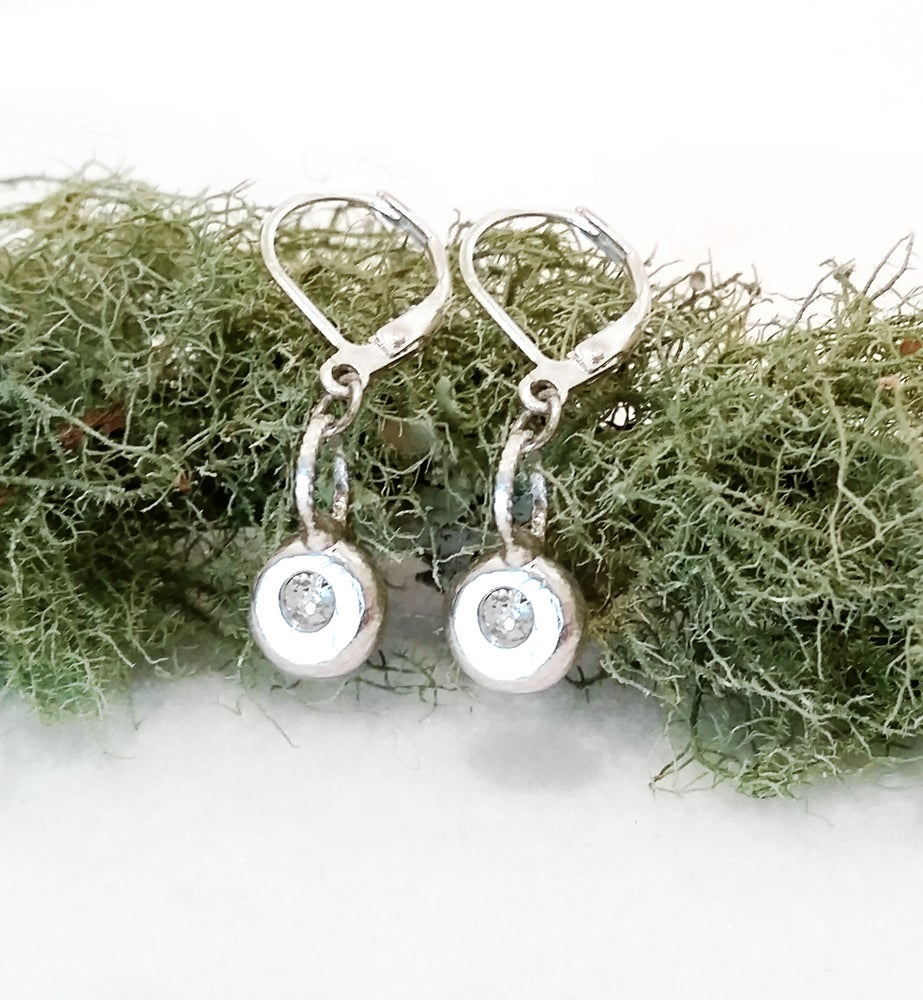 Image of Sterling Silver Pebble Earrings - Minimalist Chic