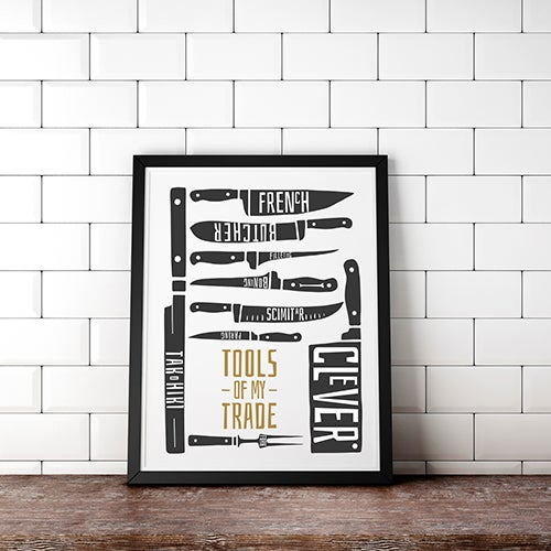 Knives - Tools of my Trade Print