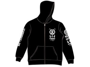 Image of Los INGOBERNABLES White Full Zip-Up Hoodie