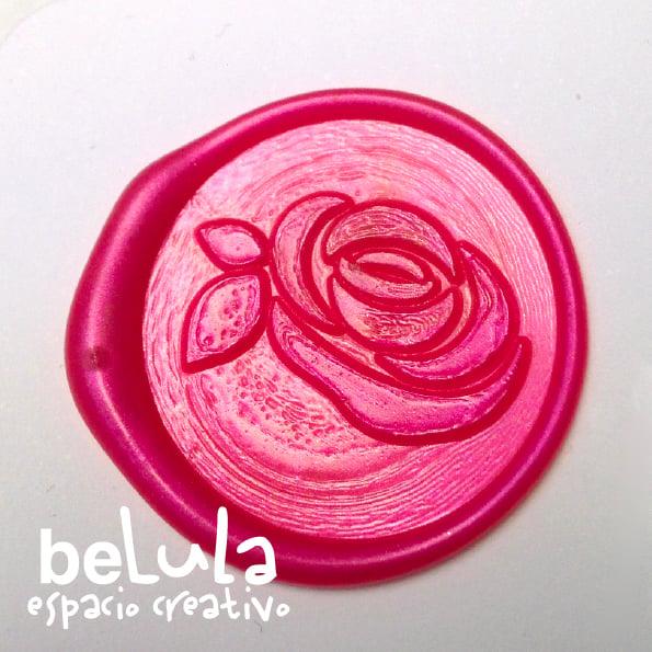Image of Sello de lacre: rosa