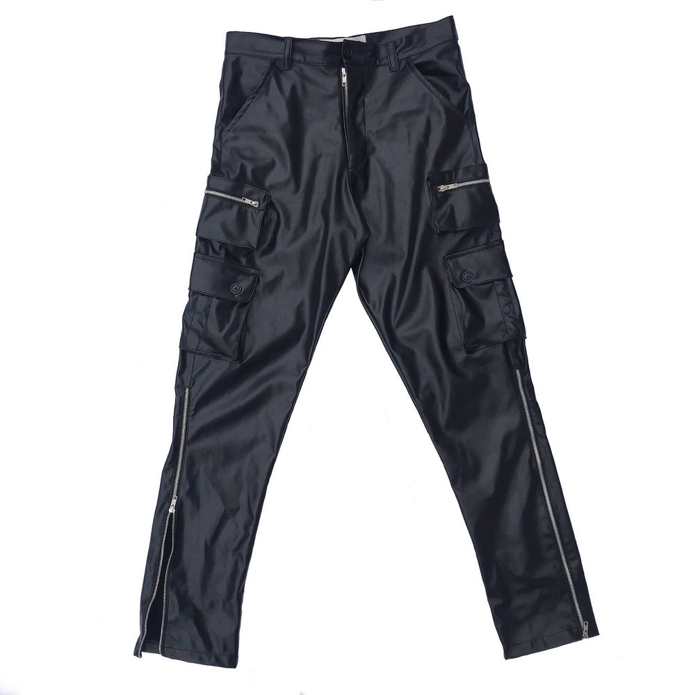 Image of Leather Cargo Pants