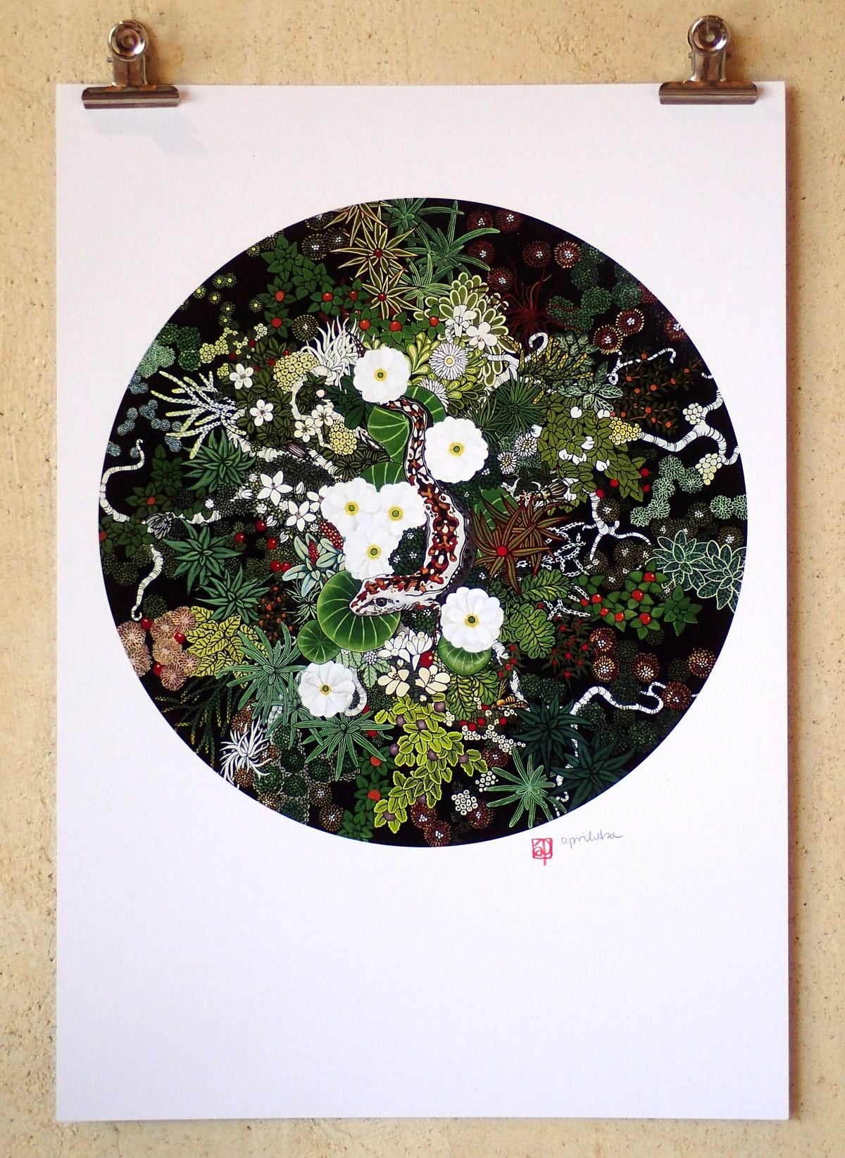'Gecko and Alpine Ecosystem I' A3 Print