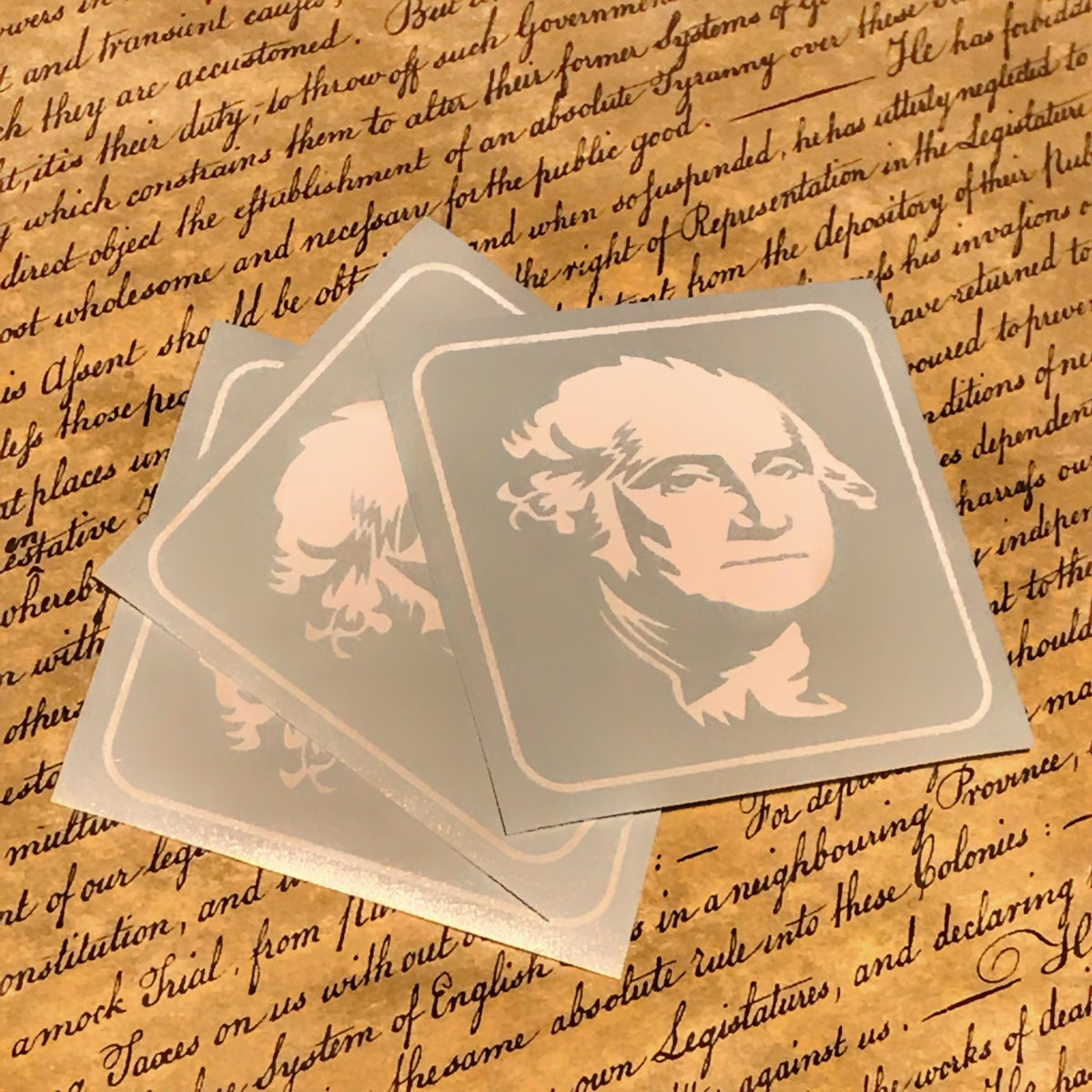 Image of George Die Cut Stickers