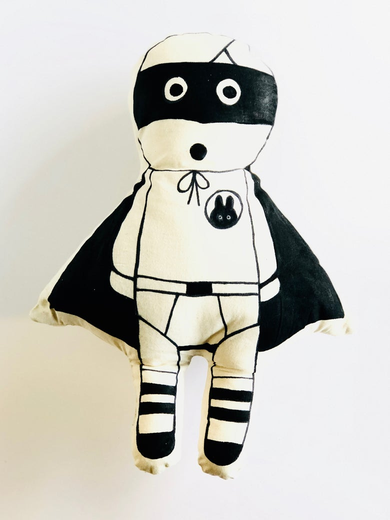 Image of Bader! a limited edition handmade art soup soft toy