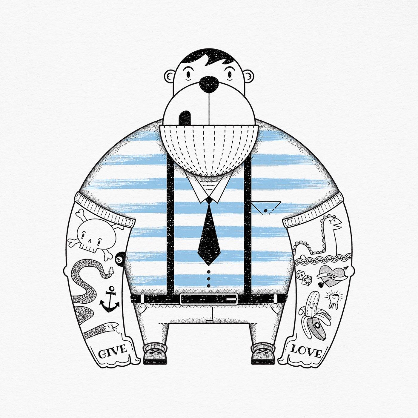 Image of Tattooed Monkey