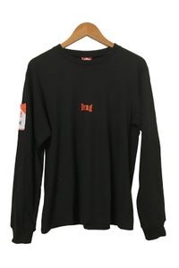 Image of CIGGY POCKET BLACK <br /> LONG SLEEVE TEE