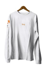 Image of CIGGY POCKET WHITE <BR> LONG SLEEVE TEE