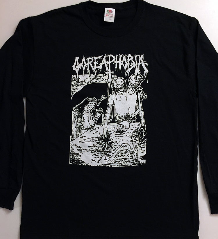 "Image of Goreaphobia ""Demo Art""  Long Sleeve T shirt"
