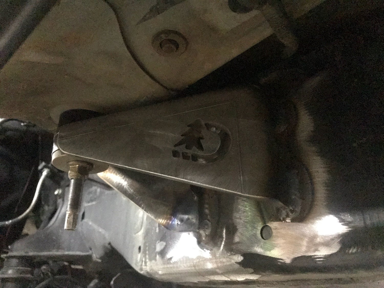 Image of 2005-2015 Toyota Tacoma front cab mount relocation kit.