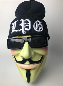 Image of BLACK L.P.G Beanie white colors