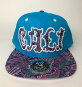 Image of CALI HAT SNAP BACK BABY BLUE COLOR