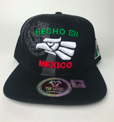 Image of HAT Hecho en mexico snapback BLack & mexican colors