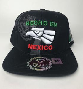 Image of HAT Hecho en mexico snapback BLack & mexican colors