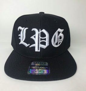 Image of BLACK HAT SNAPBACK  LPG IN WHITE