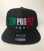 Image of BLACK HAT SNAPBACK  LOWPROFILE RECORDS IN MEXICAN COLORS