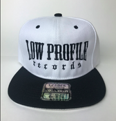 Image of WHITE & BLACK HAT SNAPBACK  LOWPROFILE RECORDS IN BLACK COLOR