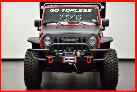 Image of Jeep Windshield Decal-Go Topless or Custom text